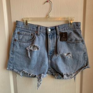 Urban Outfitters Levi Renewal Cut Off Shorts